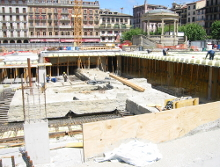 Construcción Plaza del Castillo